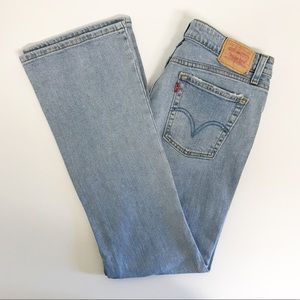 Levi's 518 9 Jeans Super Low Bootcut Distressed